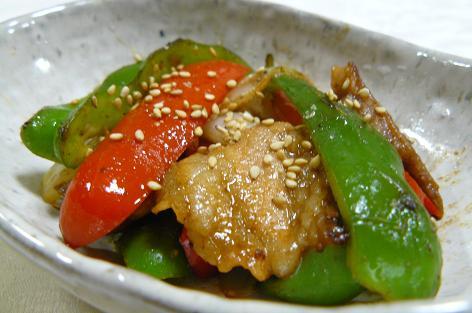 ピーマンと味噌豚の炒め物