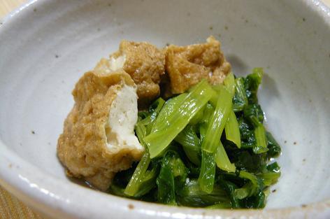 高菜の間引き菜の煮物
