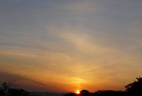 今日の夕日 綺麗だ(^^)