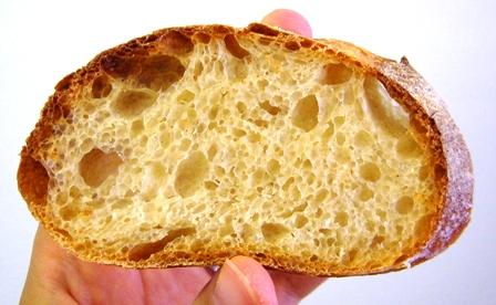 レーズン酵母フランスパン断面4回目