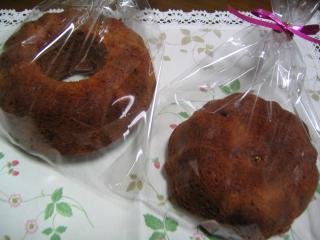 キャラメルマーブルケーキ