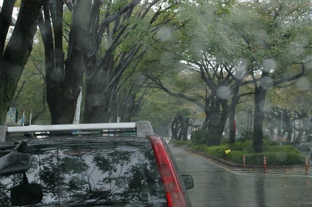 車窓から雨