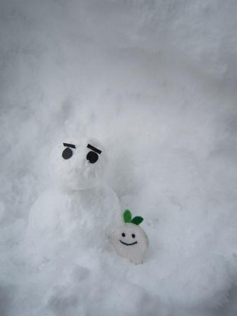 雪だるまとミニひこぴー2