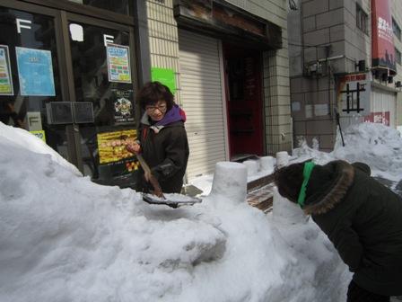雪燈籠準備1
