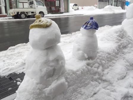 おしゃれな雪だるま