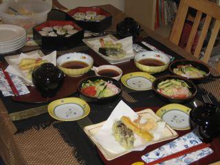 外人に和食をごちそう。