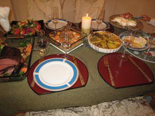 クリスマスイブのディナー