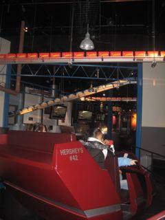 チョコレート製造行程のアトラクション