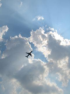 レーガン空港から飛び立った飛行機