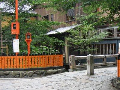祇園の町を