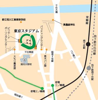 東京スタジアム周辺の位置