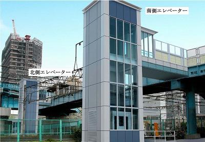 駅前歩道橋完成予想図