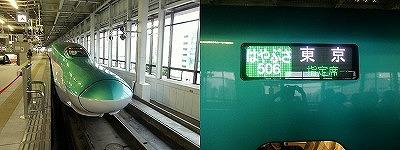 仙台駅に停車中のはやぶさ