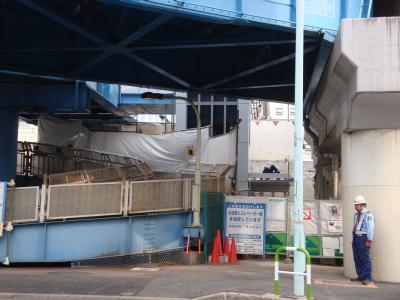南千住駅前歩道橋・エレベーター設置工事
