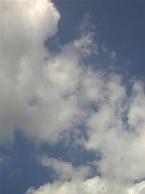 晴れすぎた空。