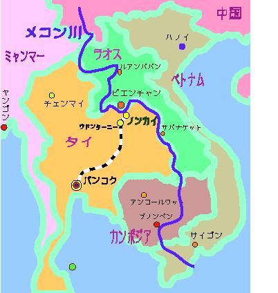 地図 タイあたり 自分で 1