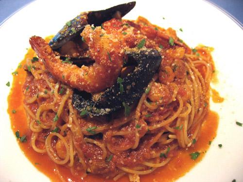 タコのスパゲティ