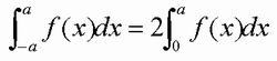 偶関数の積分