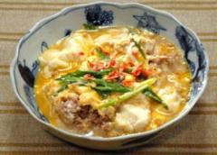 豆腐と豚ひき肉の玉子とじ