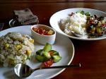 夏野菜カレーと夏野菜チャーハン