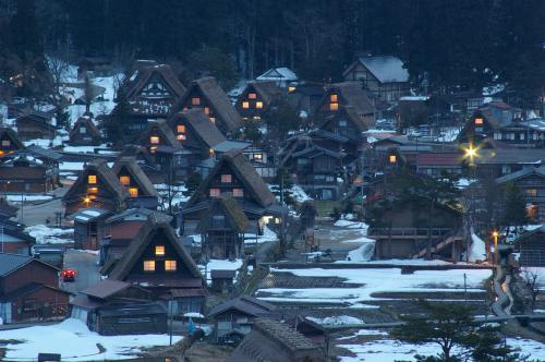 合掌村の夜景