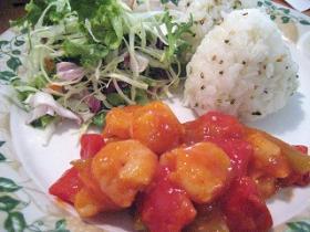 エビチリ&サラダ