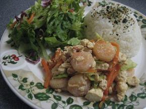 エビと豆腐のチャンプルー