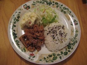 生姜焼き&サラダ