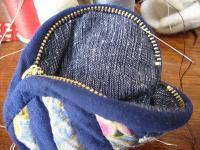 中袋まつり縫い