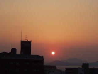 きょうの夕陽(^^)