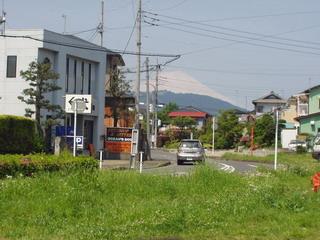 息子宅から見た富士山