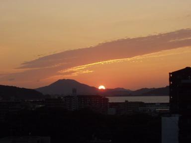 きょうの夕日~