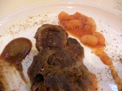 肉料理:豚頬肉のコンフィ
