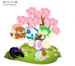 在櫻花樹下很有感覺吧