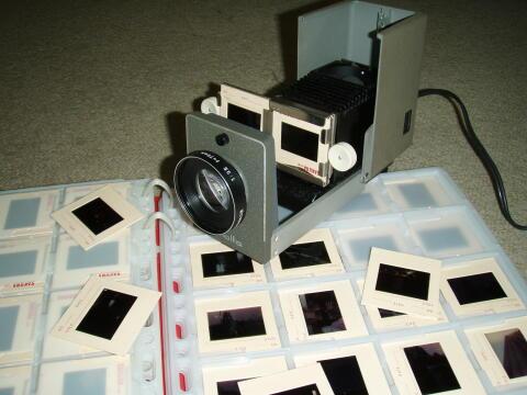スライド写真と映写機