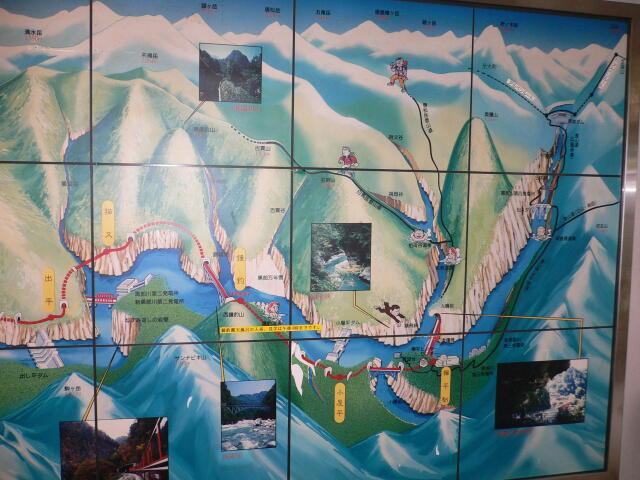 トロッコ列車案内図