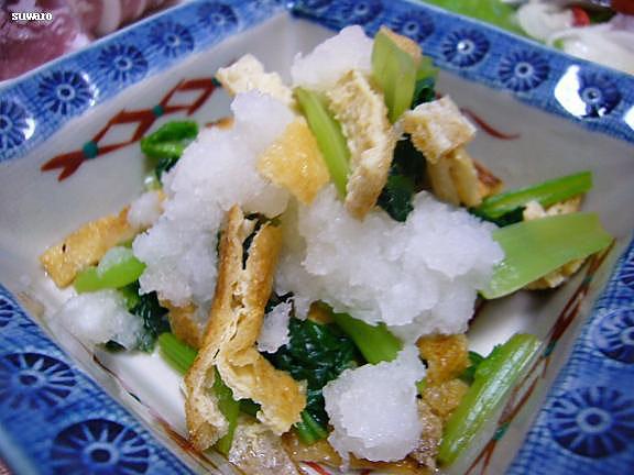 小松菜のおろし和え浸し→小松菜が少なくてオロシも混ぜてみたの