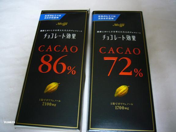 ビターチョコ・・カロリーは86%の方が少ないのよ