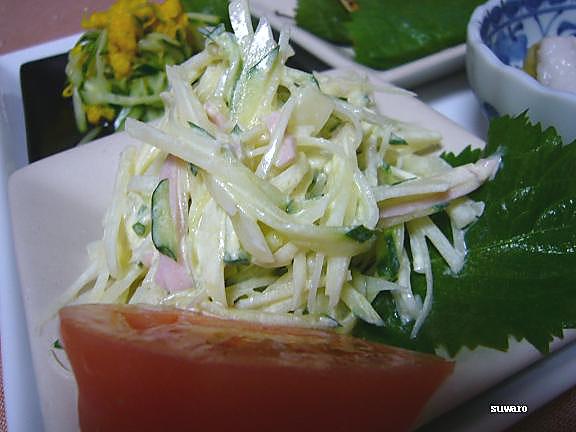 じゃが芋のシャキサラダ→このシャキシャキポテサラダも好き!