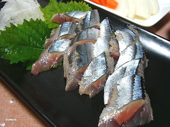 秋刀魚のお刺身→またまた食べていますよ~