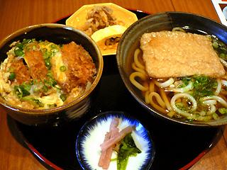 桜月 カツ丼麺セット