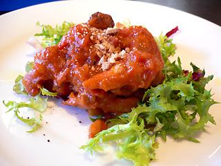 鶏肉とサラミの前菜