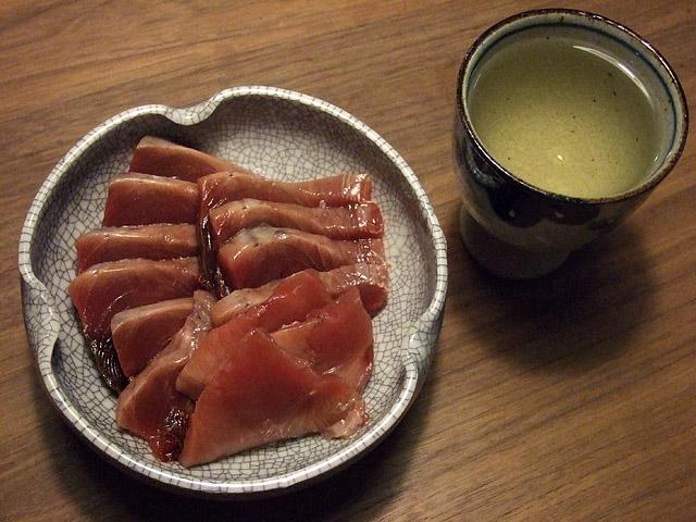 鰹と日本酒