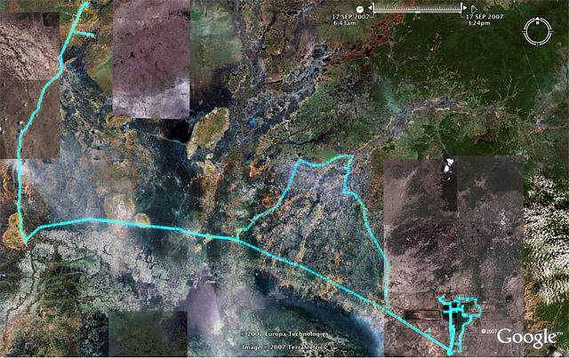 070910-17 カンボジア旅行の軌跡