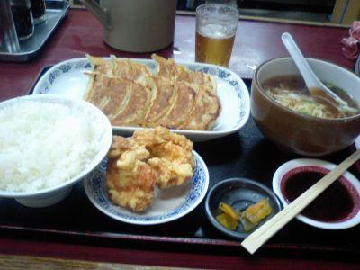 餃子定食♪