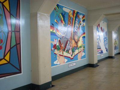 メトロ神戸の壁画