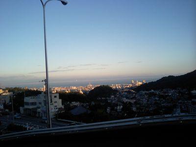 鵯越(ひよどりごえ)から見た神戸港