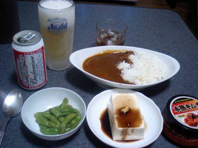 自炊の晩御飯