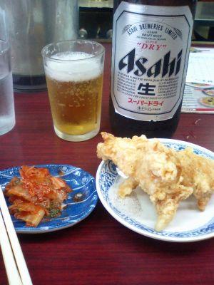 今津の餃子の王将、ビールセット