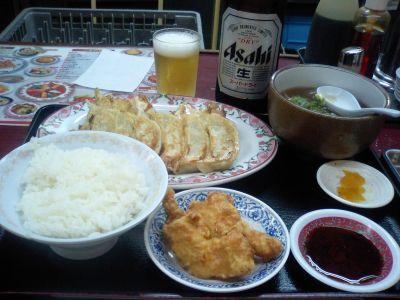 わしの晩御飯♪ ビールが毎日続く